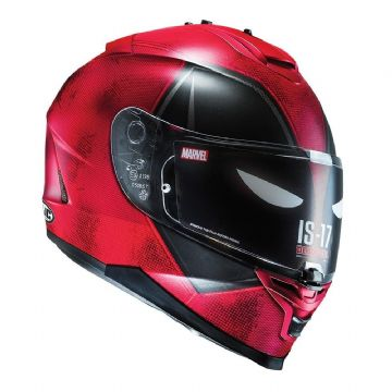 HJC IS-17 Marvel Deadpool Motorcycle Helmet Small Medium Bargain! RRP £259.99!